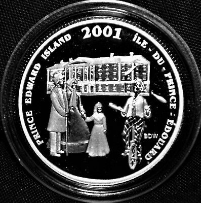 2001 Canada 50 cents Proof Silver Coin - PEI -Festival Series - NO CASE