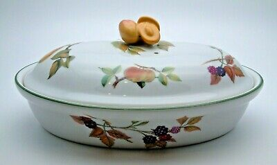 Fine Royal Worcester Evesham Vale Oval Casserole Dish #1 - Perfect