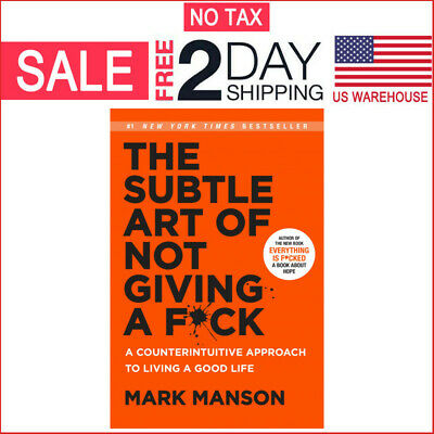 The Subtle Art of N't Giving a Fck by Mark Manson (Hardcover)