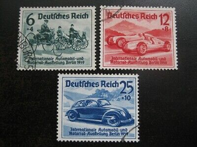 THIRD REICH 1939 complete Berlin Automobile Exhibition stamp set!