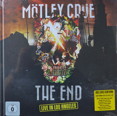 MOTLEY CRUE End Live in Los Angeles (CD, DVD + BR Book Edn NEW SEALED) The Dirt