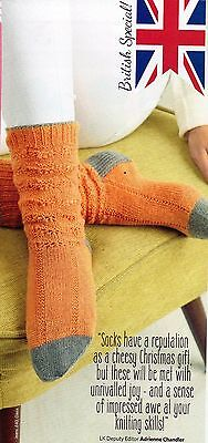 ~ Pull-Out Knitting Pattern For Lady's Pretty Lace Socks ~