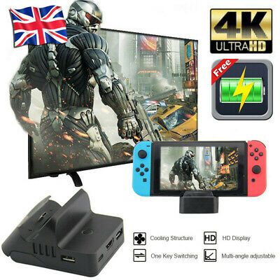 Cooling For Nintendo Switch NS HDMI 4K Adapter TV Charger Charging Dock Holder B