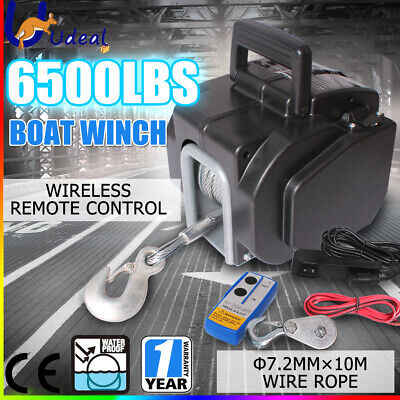 6500lbs 2946kg Electric Boat Winch Portable Detachable 12V ATV 4WD Wirless AU