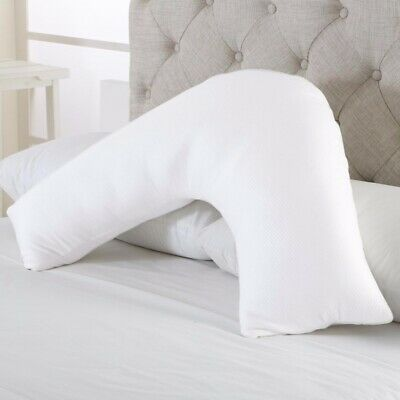 V Shaped Pillow Case Cover Pregnancy Maternity Orthopedic Back / Neck Support
