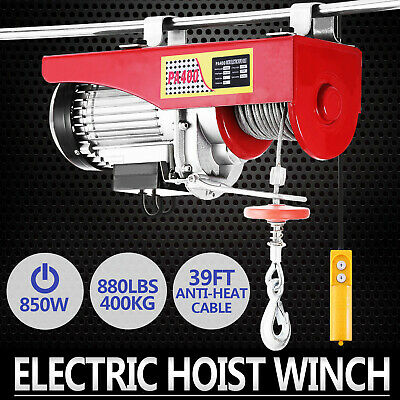 400KG Electric Hoist Winch Lifting Engine Crane Double Line Wire Rope Gantry