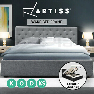 King Single Double Queen Size Gas Lift Bed Frame Mattress Base With Storage WARE