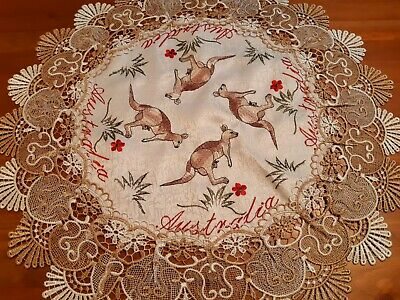 60cm Australiana Round T/Cloth-Koala or Kangaroo Design-Other Sizes Available