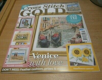 Cross Stitch Gold magazine #156 2019 Venice, Chateau, Celtic Princess, Sunflower