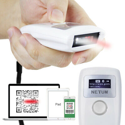 Wireless Bluetooth CCD Barcode Scanner Portable Bar Code Reader 2D QR PDF417 Z2S