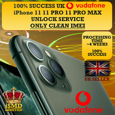Factory Unlock Service VODAFONE UK For Apple iPhone XS XS Max XR 7P 8P 7 8