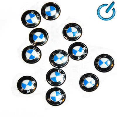 x1 Logotipo BMW PEGATINA EMBLEMA LOGO 11mm 3D LOGOTYPE STICKER ciave llave key