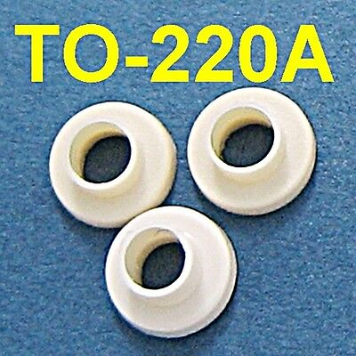 100, Plastic Bushings TO-220A Insulator Washers Transistor Heat Sink Sinking