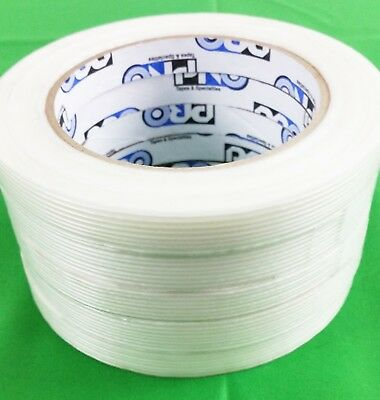 "(Lot of 5)  1/2"" x 60 yd Filament Reinforced Strap Tape Rolls Pro 180"
