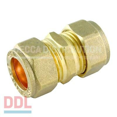 Brass Straight Coupler Compression Various Sizes