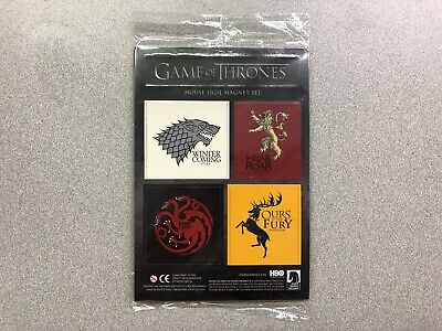 Game Of Thrones House Sigil Magnet Set LootCrate Exclusive HBO