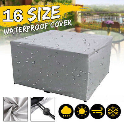 Large Waterproof Outdoor Table Cover Patio Furniture Shelter Protection Garden