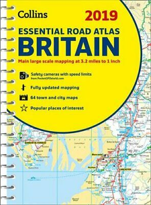 2019 Collins Essential Road Atlas Britain by Collins Maps 9780008272708