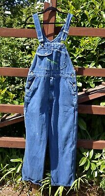 """Clean Worn Distressed Oversized Baggy Overalls Dungarees KEY IMPERIAL 38""""/30"""""""