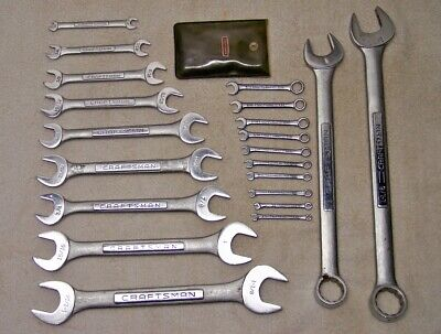 """21pc CRAFTSMAN -V- USA 5/32 to 1-1/8"""" Open-End Combination Ignition Wrench Set"""