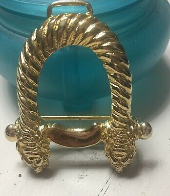 Vintage Boutique 1980'S Gay Boyer Tiger Gold Tone Belt Buckle Rare