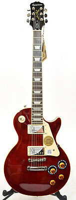Epiphone Les Paul Standard Plus Top PRO Electric Guitar Wine Red Flamed Top 2015