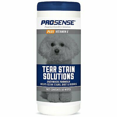 Pro·Sense Plus Tear Stain Solution Wipes for Dogs 50ct
