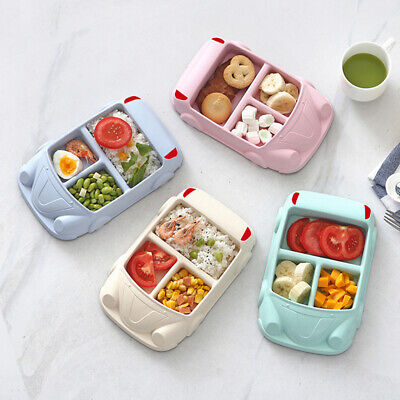 Baby Plate Divided Children's Tableware Separation Bowl Rice Bowl Car Shape