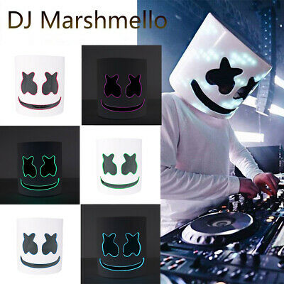 DJ-MarshMello LED Mask Helmet for Costume Rave Cosplay Party Bar Music Festival