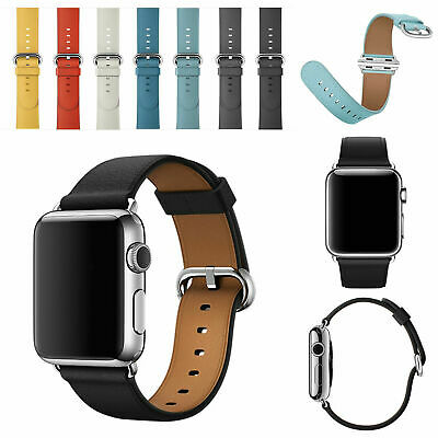 Genuine Leather Watch Strap Bracelet Wrist Band For Apple Watch 1/2/3/4 38/42mm