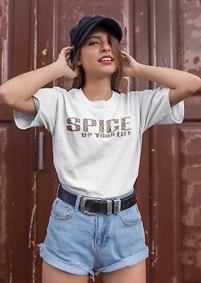 Womens  Girls Ladies Spice Up T Shirt Top  Ages 5-13 Ladies Uk Size 8 -Plus 22