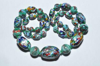 Beautiful Vintage Art Deco Necklace End Of Day Splatter Glass Necklace
