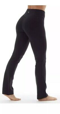 ecf586d1beee3 Bally Total Fitness Womens 18% spandex Tummy Control athletic/yoga pants  Black