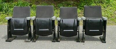 Set of 4 Vintage Movie Theater Seats or Chairs 1950s -1960s MUST SELL!