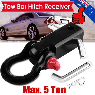 5T Recovery Tow Bar Hitch Receiver Towbar with Bow Shackle 4WD 4X4 Off Road HOT