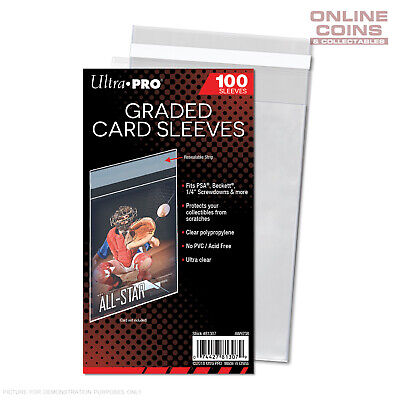 Ultra Pro Resealable Graded Card Sleeves - Pack of 100 - #81307