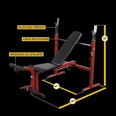 Body Solid Best Fitness Folding Olympic Weight Bench With Leg