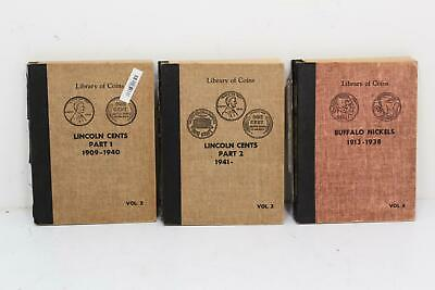 Lot of 2 Library of Coins Volumes Lincoln Cents I & II Buffalo Nickel Incomplete