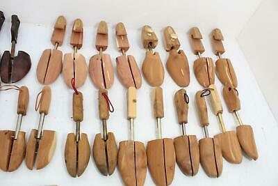 Lot Of 11 Pair 7 Unmatched Vintage Wood Shoe Tree Stretchers USA British Brands