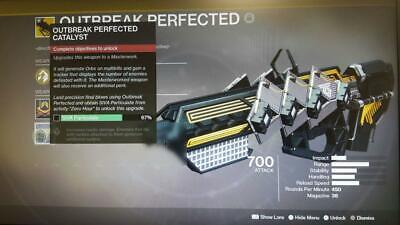 Destiny 2 Outbreak Perfected Heroic + Solar challenge Ship Catalyst 33% PS4
