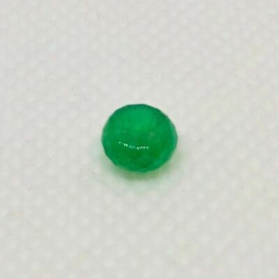15cts Natural Emerald 6x3.9mm Faceted Roundel Bead 10715F