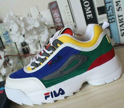 2019 UK style FILA Womens Disruptor II 2 Sneakers Casual Athletic Running Shoes