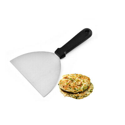 Stainless Steel Griddle Scraper Kitchen Grill Burger Flipper Tool Catering BBQ