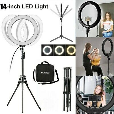 14 Inch LED Ring Light With Stand and Phone Holder Make-up for Camera iPhone