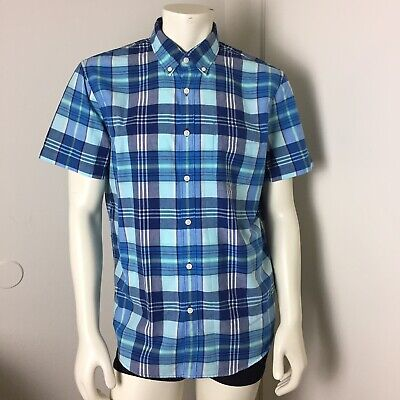 8bb83c78 AMERICAN EAGLE OUTFITTERS Seriously Soft Button Down Blue Shirt mens L  Cotton