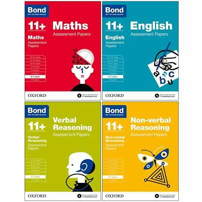 Bond 11+Maths,English,Verbal,Non-verbal Assessment Papers 6-7 years 4 Books Set