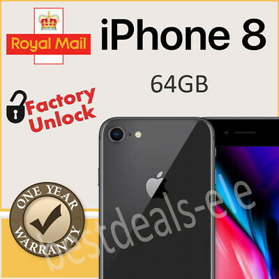 Apple iPhone 8 64 GB Space Grey Factory Unlocked New in Sealed Box 1 Yr  Wty