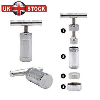 "Stainless Steel Pollen Press Heavy Duty T-Design Pollen Press Aluminum 4.5"" UK"