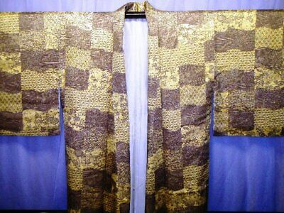 Y01 COLORFUL KIMONO, Japanese vintage silk costume for a woman.