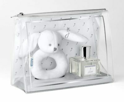 New - Jacadi Paris Baby Birth Kit with Bunny & Alcohol-free Scented Water 50ml